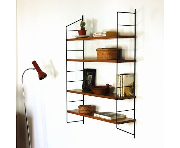 Metal and wood shelf 60