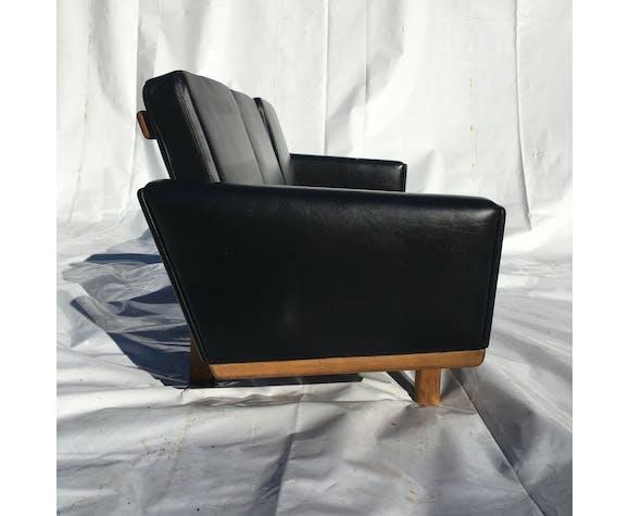 Canapé 3 places en cuir Model Getama 236 H.J.Wegner