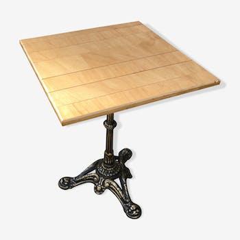 Table bistrot rénovée