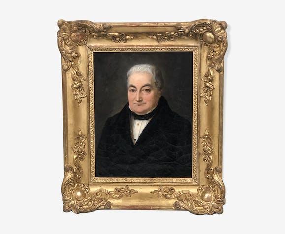 Portrait d'un notable de province XIXème