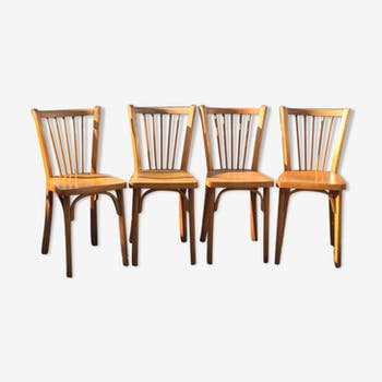 Lot 4 chaises bistrot Baumann