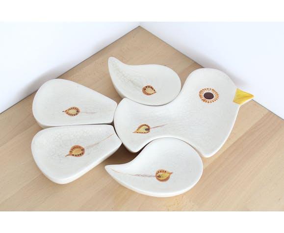 Aperitifs ceramic bird cups
