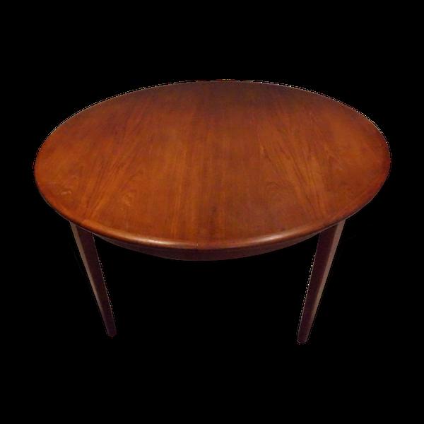 Table de repas danoise extensible en teck 1960 HS Mobler