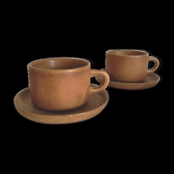 Paire de tasses Grès de Brenne