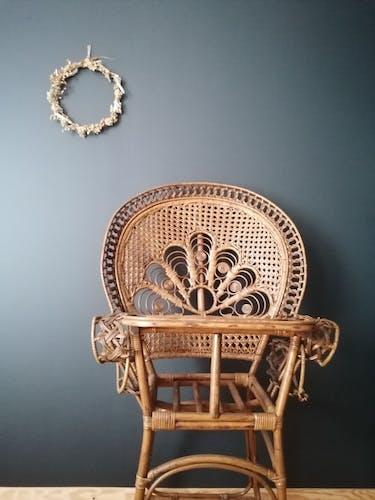 Chaise haute peacock