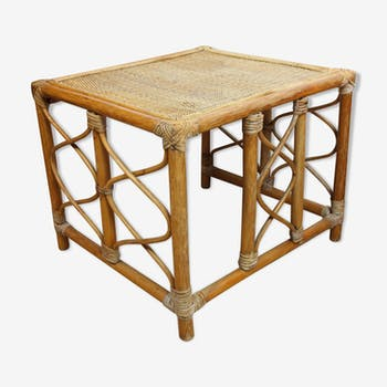 Table de chevet rotin