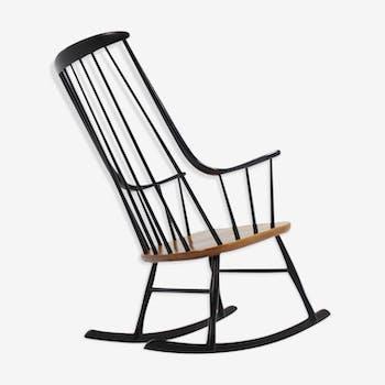 Rocking chair Grandessa scandinave par Lena Larsson pour Nesto 1958