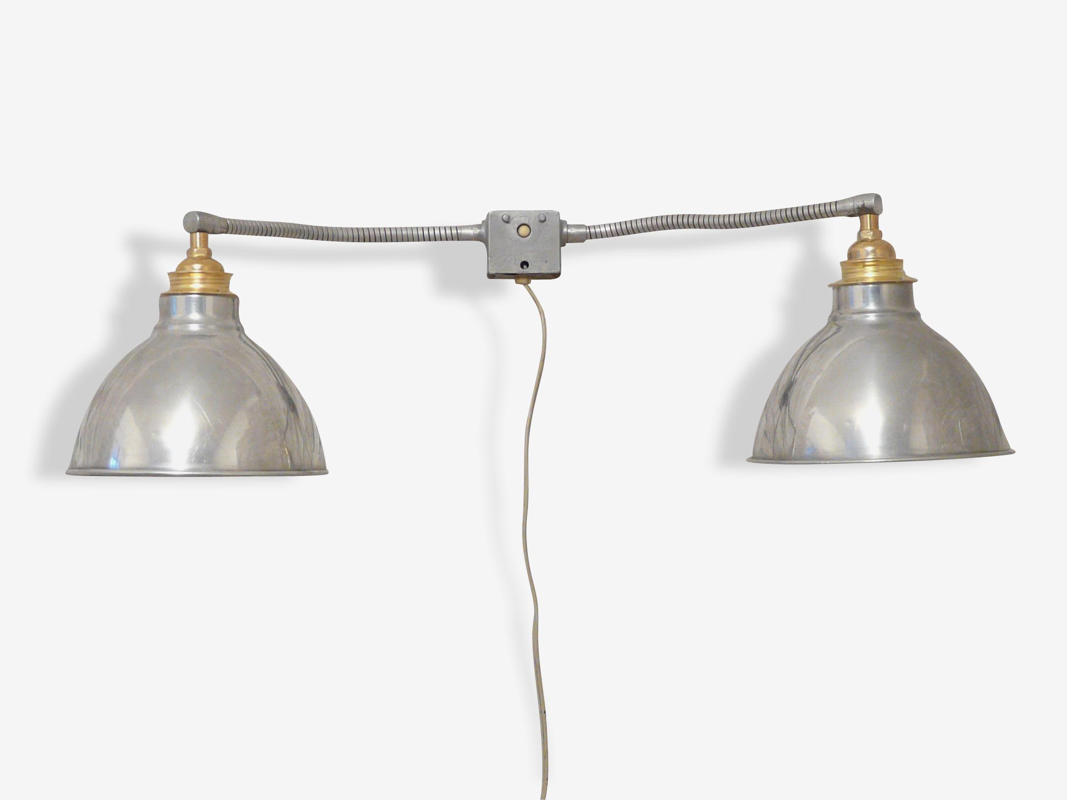 Lampe double flexible 1950