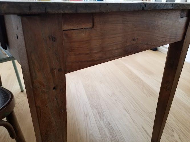 Table de ferme 4 tiroirs