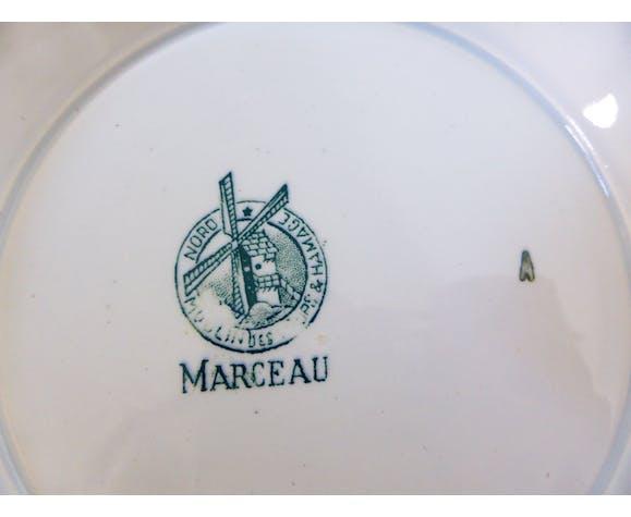 Plat sur piédouche compotier de la manufacture du Moulin des Loups et Hamage modèle Marceau
