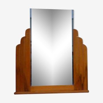 Art deco mirror, and column wooden frame