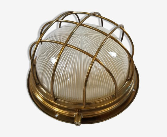Applique hublot globe plafonnier marine grillagé holophane france