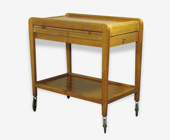 Desserte Vintage 50 Table Roulante Bar Avec Rallonges Wood