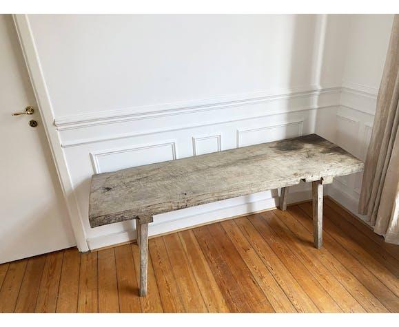 Table de ferme en bois massif vintage
