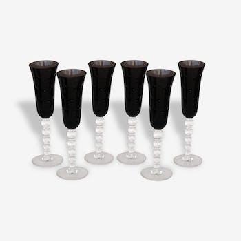 Série de 6 flûtes à champagne cristal de St Louis Bubbles bae10f0d2a6b