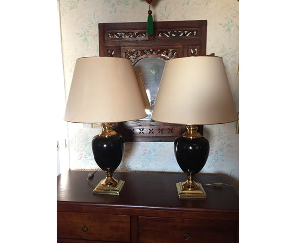 Set of 2 lamps the dolphin