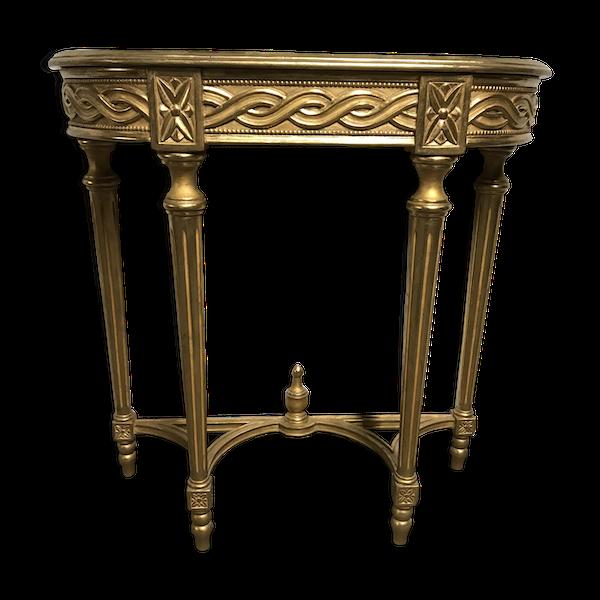 Console Louis XVI bois doré