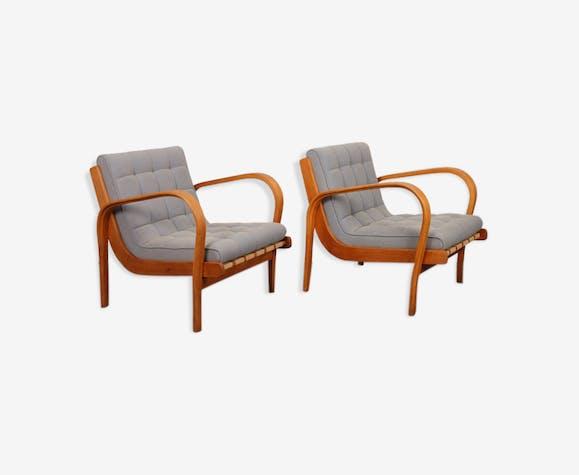 Paire de fauteuils par Kropacek et Kozelka, 1944