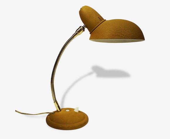 Lampe de bureau jaune moutarde métal jaune vintage 18222