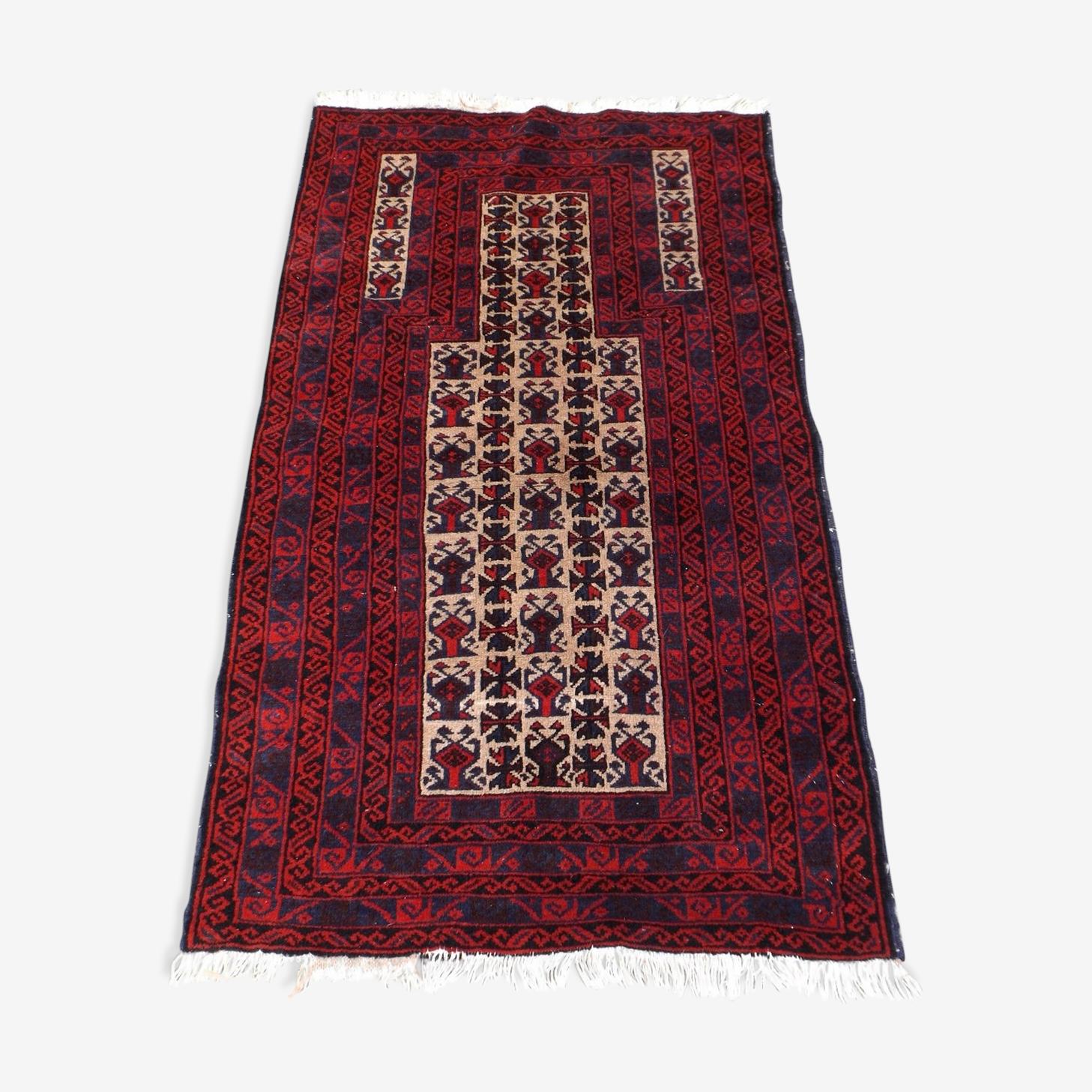 Tapis Afghan, noué en laine 80 cm * 125 cm, modèle Mirhab