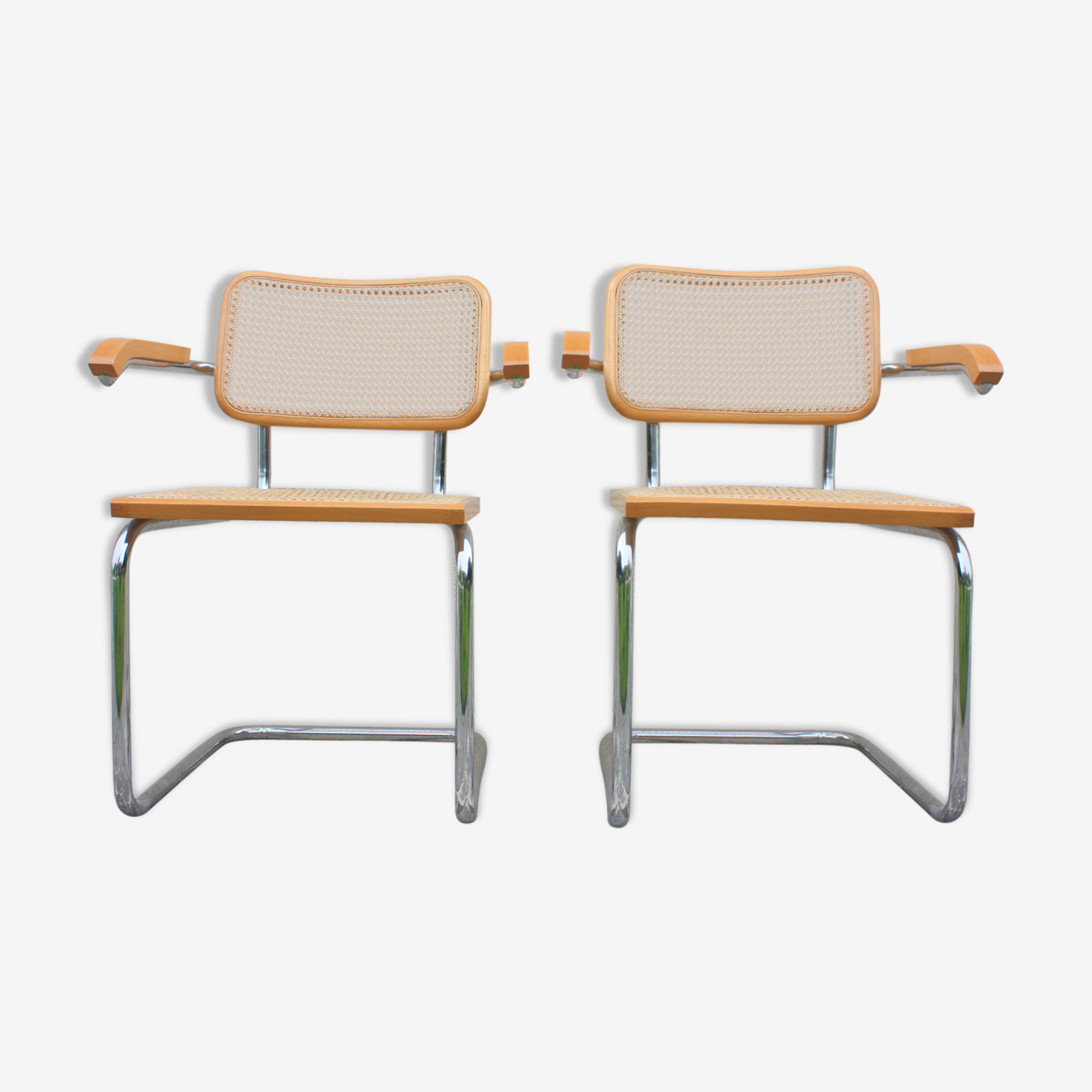 2 fauteuils B 64 Marcel Breuer made in Italy