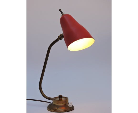 Vintage tole and brass design office lamp