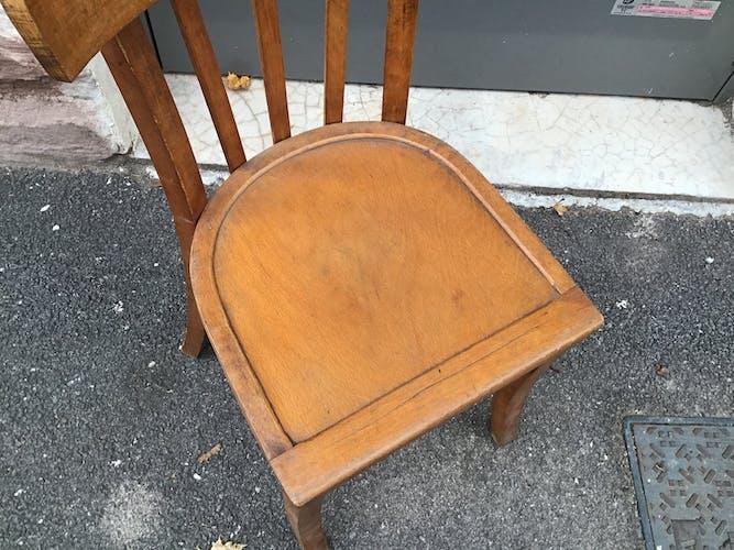 Set de 4 chaises bistrot vintage, 1960
