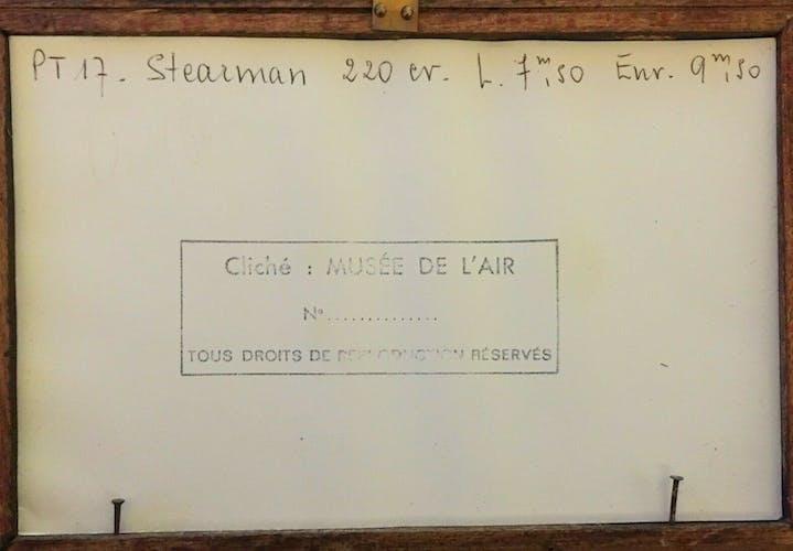 Photo ancienne avion pt17 stearman