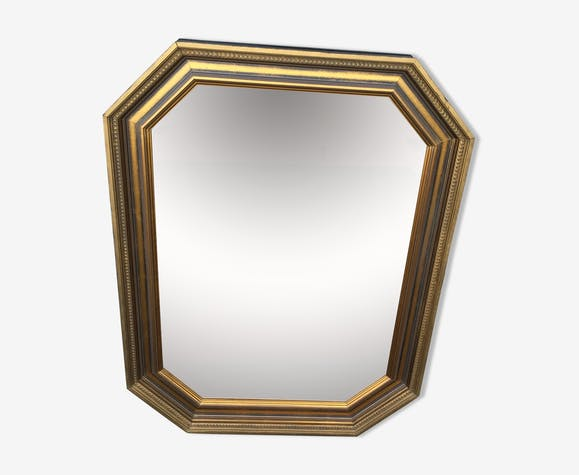 Mirror in gilded wood 82 x 62 cm