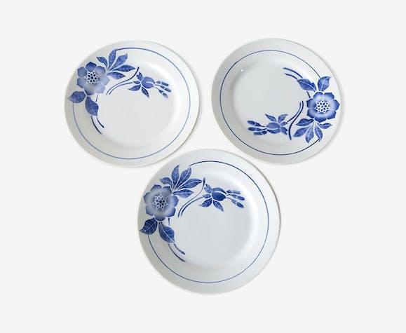Assiettes creuses fleurs bleues vintage