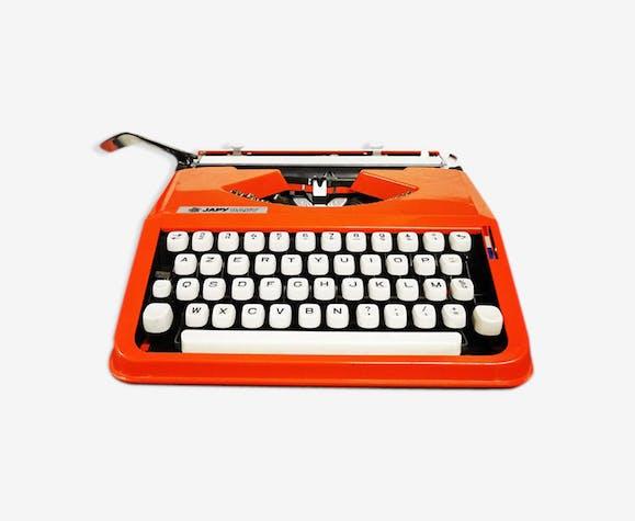 Machine à écrire Japy baby orange