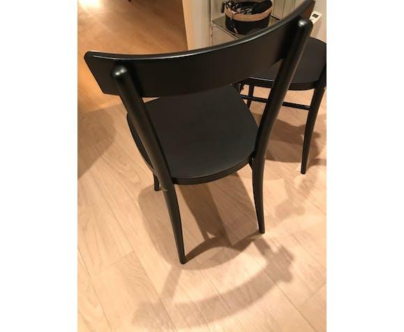 Lot chaises hêtre noir