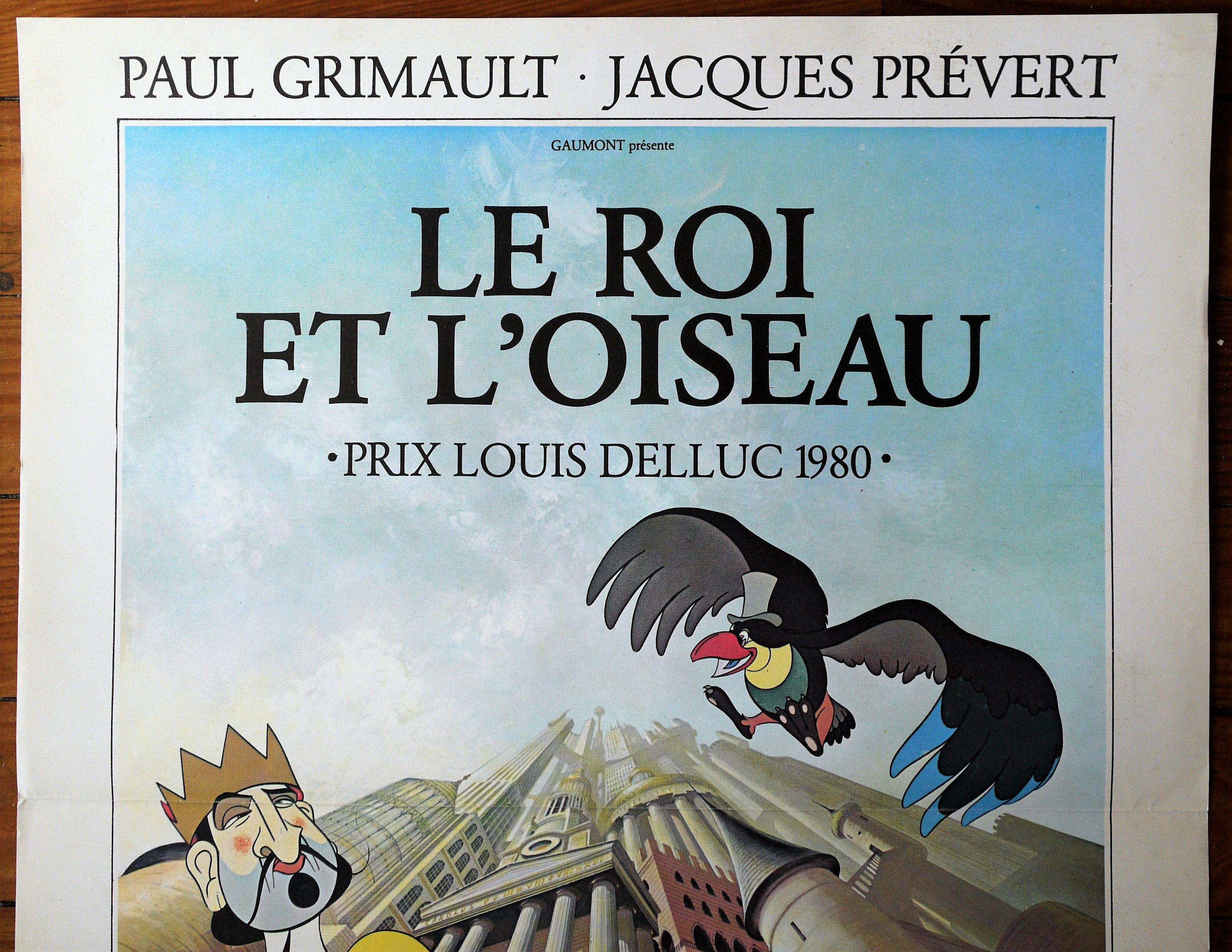 Le roi et l/'oiseau Jacques Prevert movie poster print