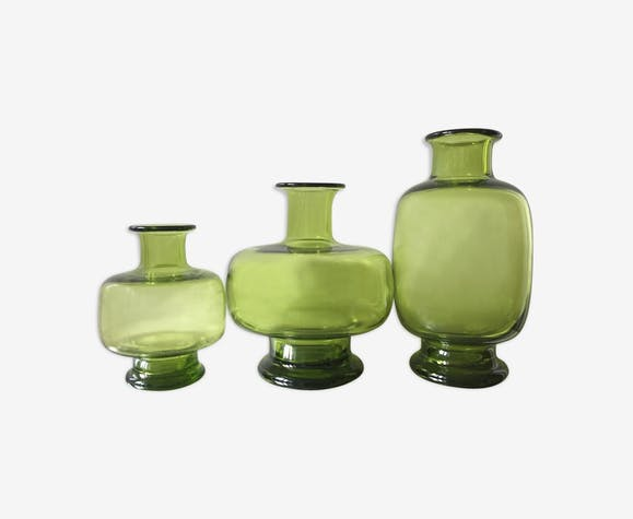 Ensemble de 3 vases Holmegaard par Lutken 1960