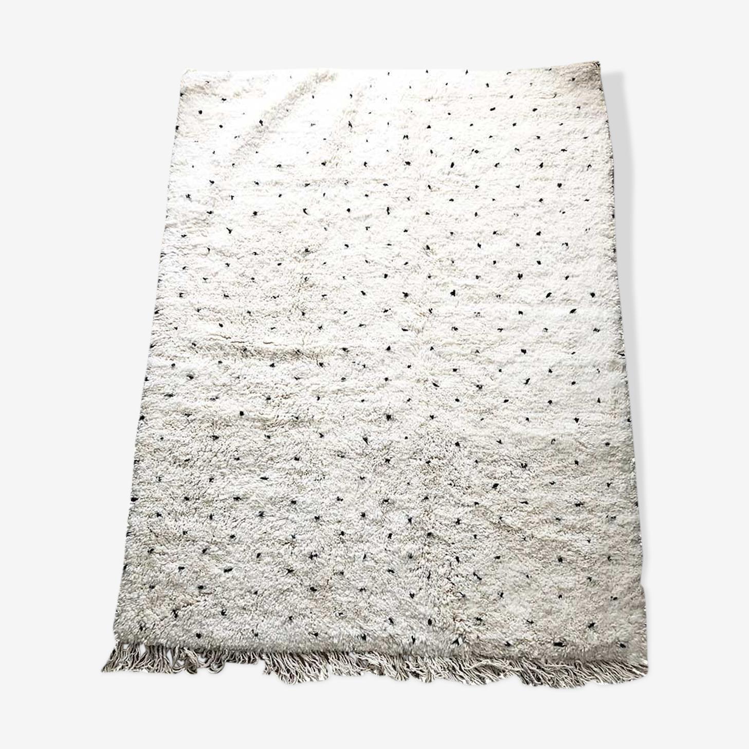 Berber carpet Beni Ouarain to peas 210 x 160 cm