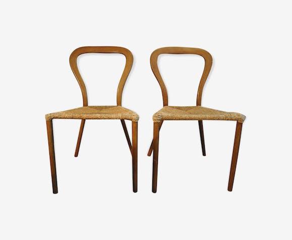 paire de chaises sudoises en bois courb - Chaises Suedoises