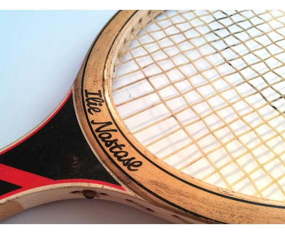 Raquette de tennis en bois Adidas Ilie Nastase | Selency