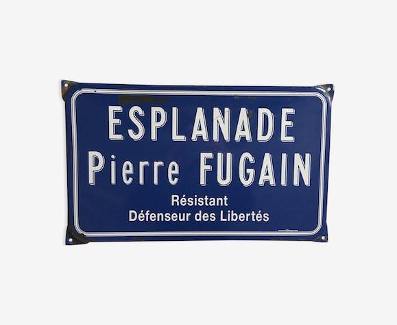 Enamelled old street sign