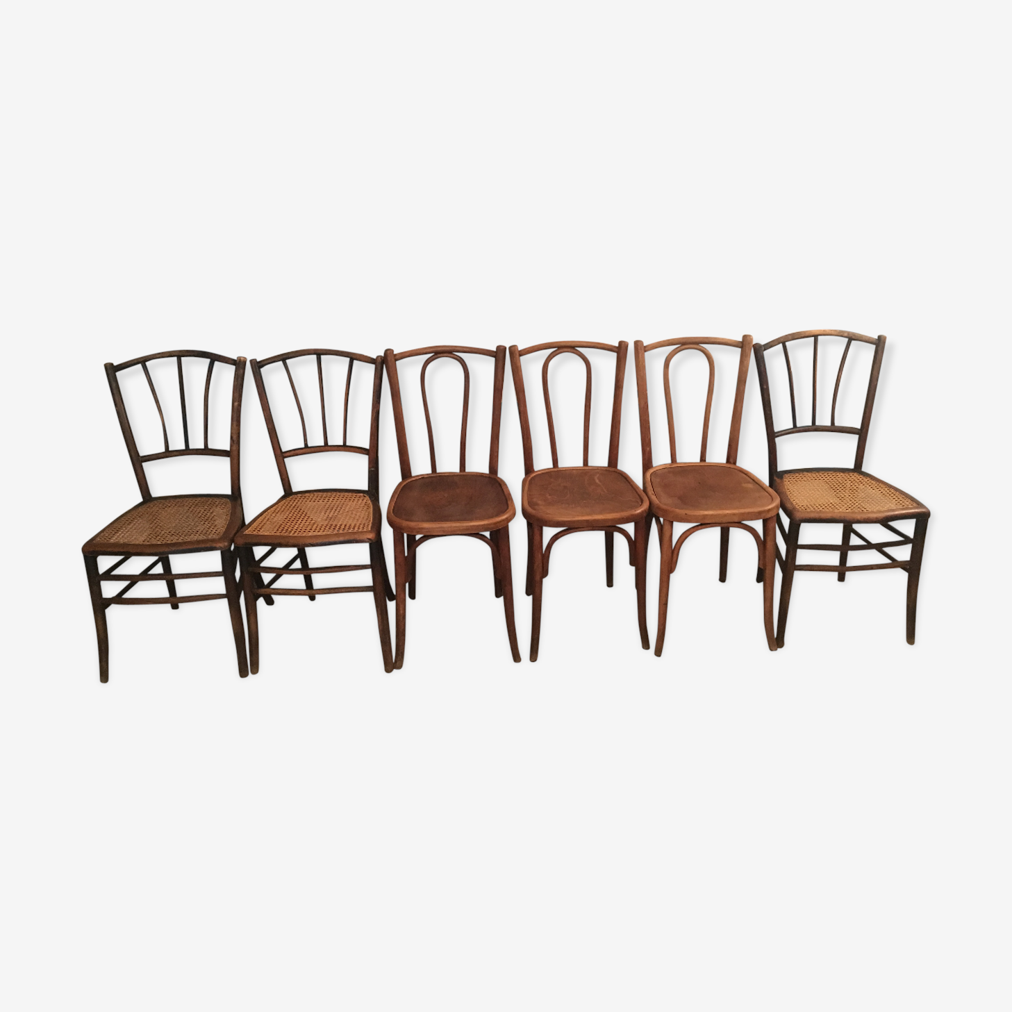 Set of 6 bistro chairs luterma 1900 vintage