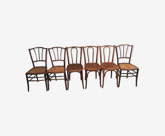 Set of 6 bistro chairs luterma 1900 vintage