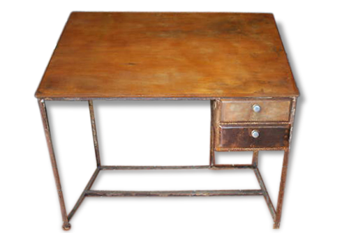 Bureau d architechte en fer et bois fer industriel