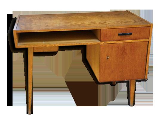 Grand bureau bois scandinave vintage bois matériau