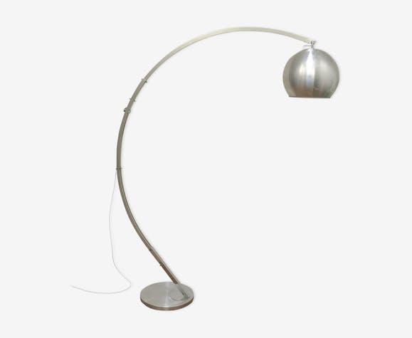 Vintage bow lamppost modular edition Raak brushed aluminum 1970