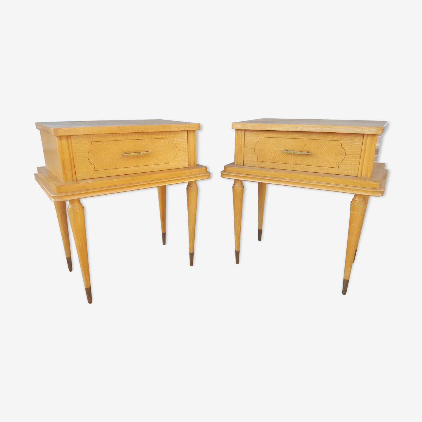 Pair of two bedside tables years 60
