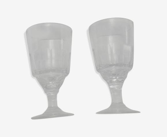 Lot de 2 verres bistrot vintage