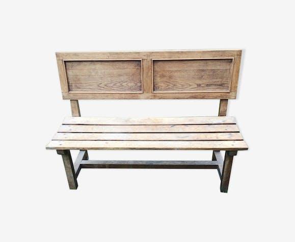 Banc en bois avec dossier