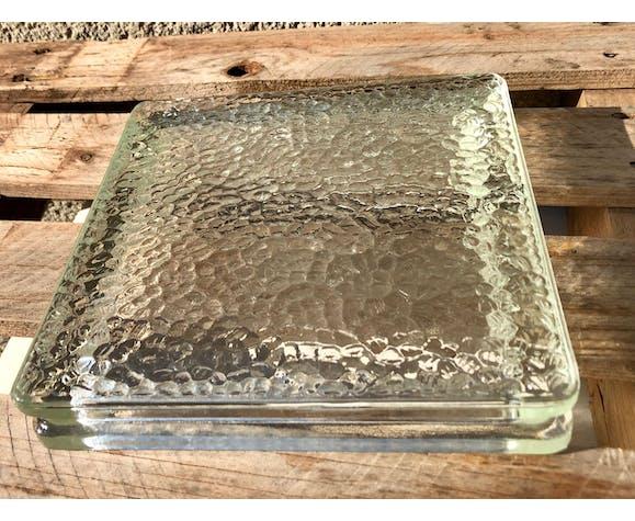 Vides-poche de verre Nevada pressé moulé vintage 60 verre Français