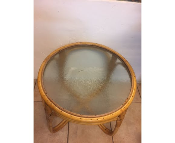 Rattan Coffee Table With Gl Top