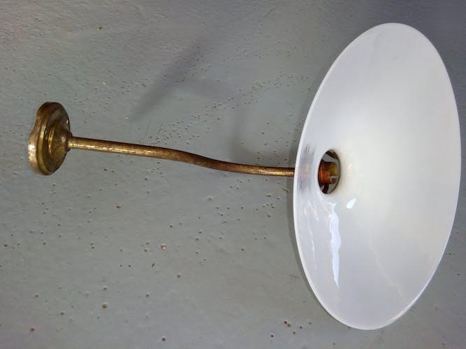 Applique laiton opaline 1930'