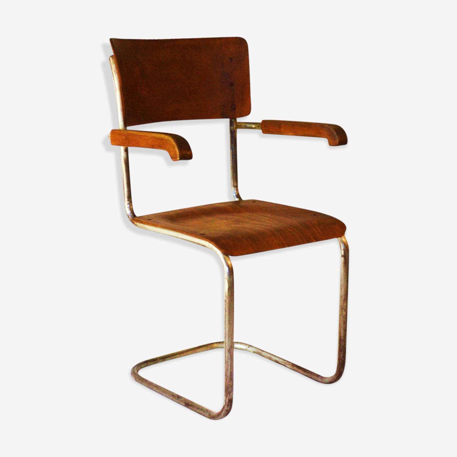 Chaise de Vichr de style Bauhaus des années 1930modèle de Mart Stam